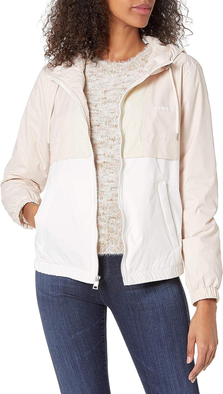 Levi's womens Colorblocked Sporty Hooded Windbreaker Jacket