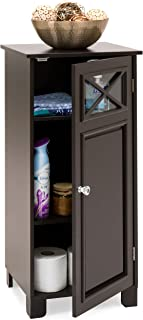 Best Choice Products 3-Tier Wooden Floor Cabinet for Bathroom Storage and Organization w/Adjustable Shelves - Espresso