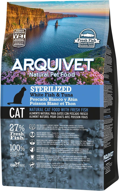 Arquivet Charity ASIN Pienso para Gatos esterilizados - Sterilized Adult Pescado Blanco y atún - 1,5 kg