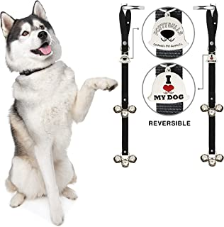 Caldwell's Pet Supply Co. Potty Bells Set of Two Doorbells for Dog Training and Housebreaking Your Doggy. Dog Bell with Doggie Doorbell and Potty Training for Puppies Instructional Guide