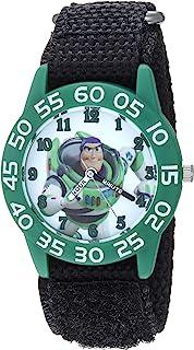 Disney Boys Toy Story 4 Analog-Quartz Watch with Nylon Strap, Black, 19 (Model: WDS000713)