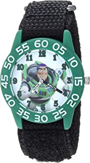 Disney Boys Toy Story 4 Analog-Quartz Watch with Nylon Strap, Black, 19 (Model: WDS000713)