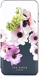 Ted Baker FRANII Mirror Folio Case for iPhone SE (2020) / 8/7 / 6 - Contactless (No Magnet) - Neapolitan - Ivory/Rose Gold