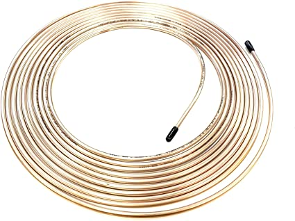 """The Stop Shop 25 Ft. Roll / Coil of 3/16"""" (.028"""" Wall) Copper Nickel Brake Line Tubing: image"""