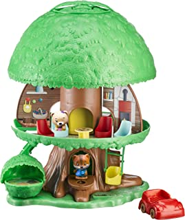 Bandai V700200 Timber Tots by Klorofil-Magic Tree House with 2 Figures-Eliot from The Fox Ruby from The Bear Family-Early ...