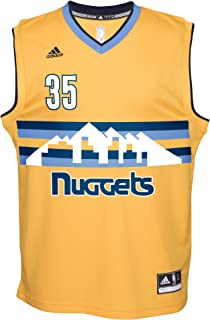 NBA Men's Denver Nuggets Kenneth Faried Replica Player Alternate Flex Jersey, Small, Yellow