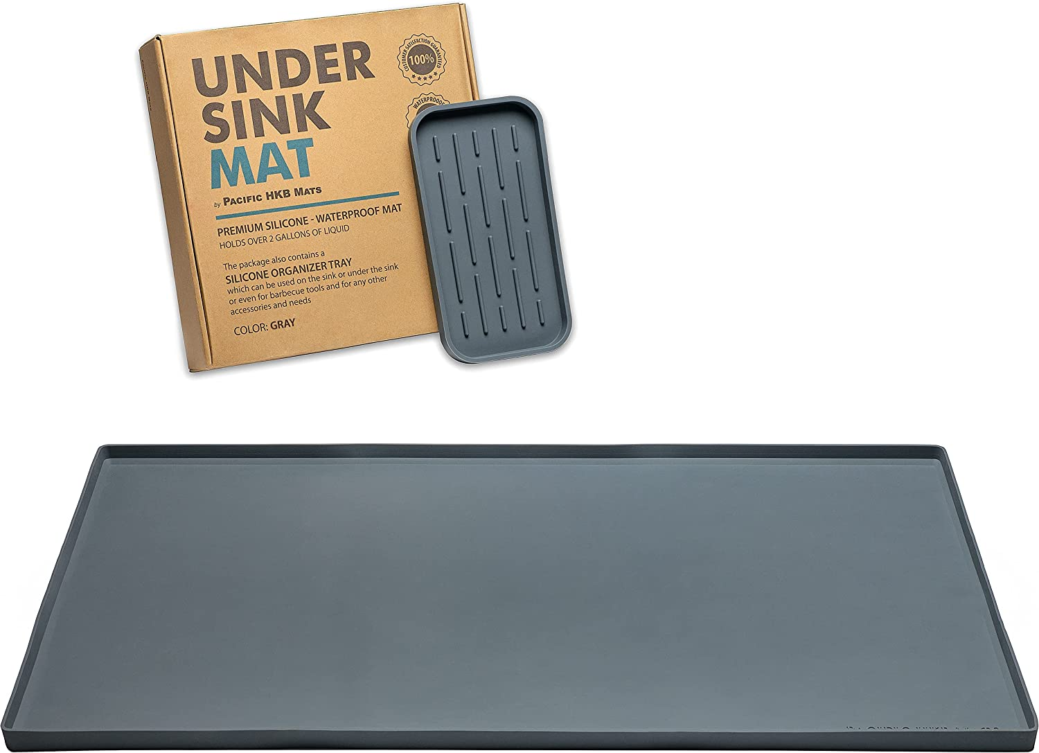 2021 new Under Cheap Sink Mat for Kitchen Hol Cabinet Silicone Waterproof