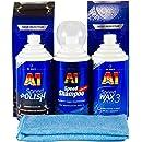 Dr Wack A1 Speed Polish Speed Wax Plus 3 Speed Microfibre Cloth Auto