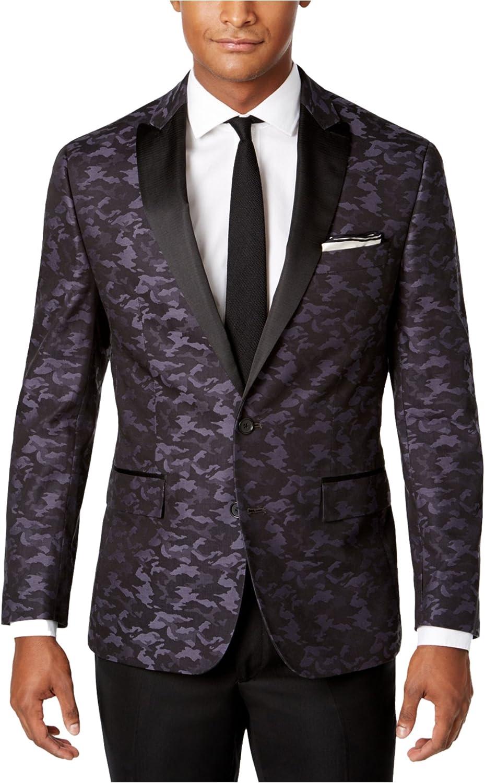 Ryan Seacrest Mens Camouflage Two Button Blazer Jacket
