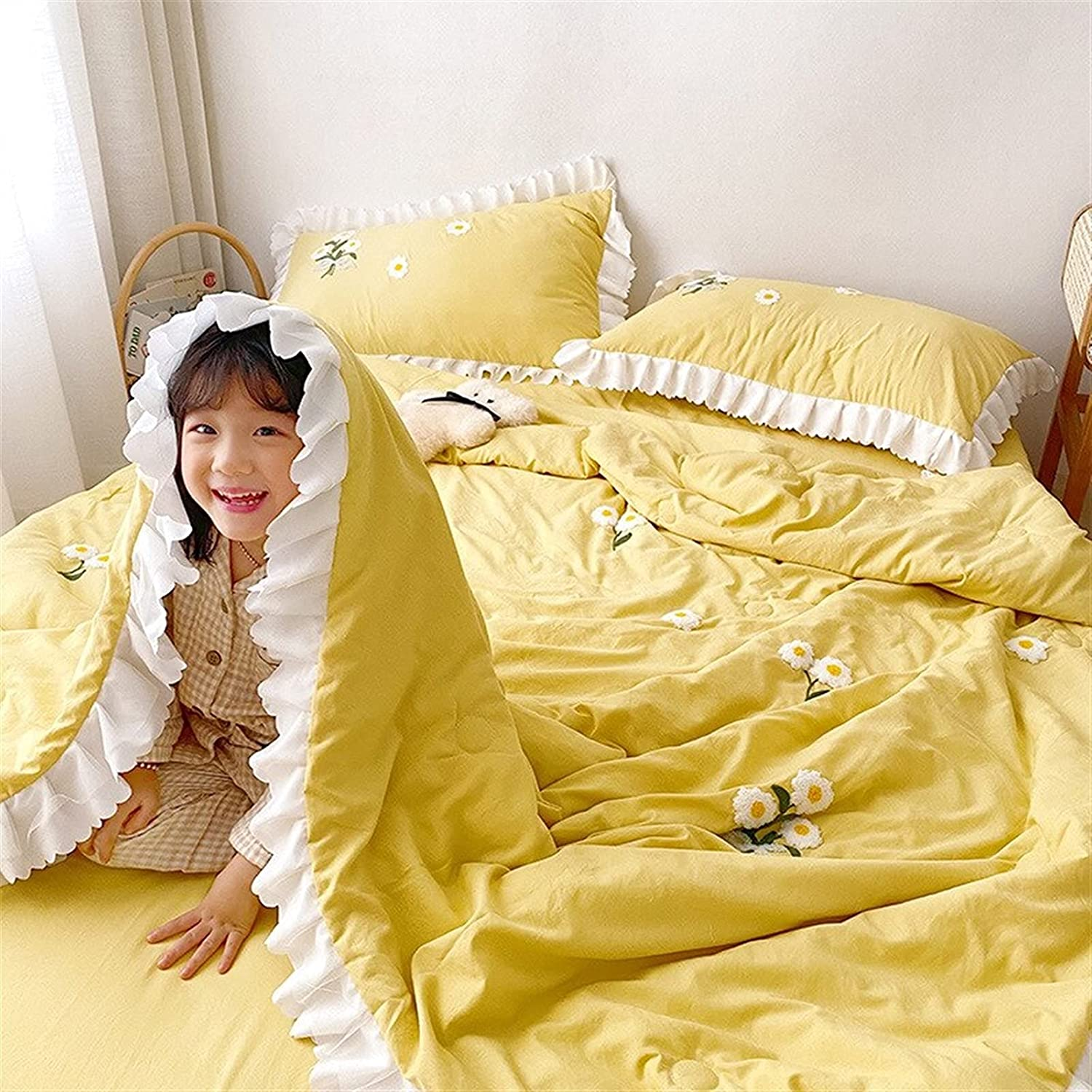 Zasinege Lowest price challenge Bedding Thin Embroidered Summer Conditio El Paso Mall Cool Air Quilt