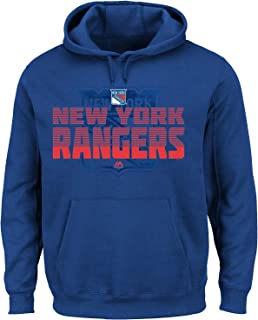 New W/Tags New York Rangers NHL Blue & Redtop Corner Fleece Hoodie Sweatshirt Mens Big & Tall Size XL-Tall