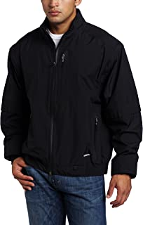 Zero Restriction Men's Featherweight Traveler Jacket Removable Sleeve Rain Jacket