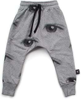 Sponsored Ad - NUNUNU Baggy Pants, Kids and Babies Harem Sweatpants, Boys and Girls, 100% Cotton, Unisex, 0-14 Years
