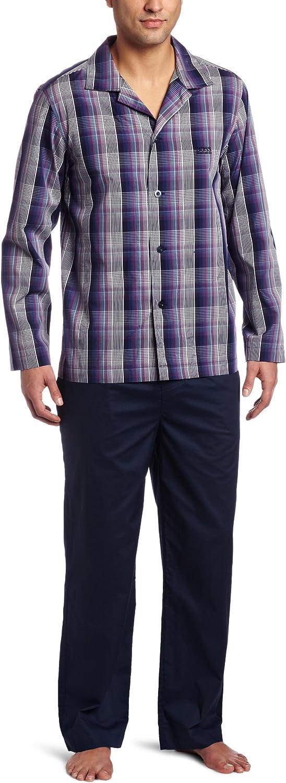 BOSS HUGO BOSS Men's Plaid Woven Pajama Set