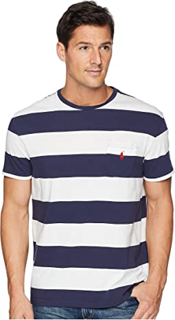 Classic Fit Bold Striped Pocket T-Shirt