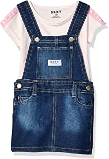 DKNY Baby-Girls Short Sleeve Top and Skirtall Set Skirt Set - Pink