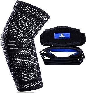 New Technology آستین آرنج فشرده سازی پزشکی (1 عدد) بریس آرنج تنیس (2 عدد) ، چرخ دنده پشتیبانی از آرنج برای ورزش یا استفاده روزانه برای کاهش درد مفاصل و درمان التهاب التهاب مفصل | آرنج تنیس | آرنج گلف باز | آرتروز