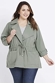 Beme Long Sleeve Anorak - Womens Plus Size Curvy