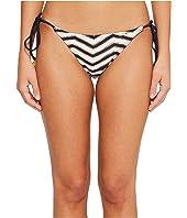 El Malecon Braided Wavey Tie Side Ruched Back Full Bikini Bottom