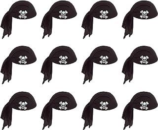 Beistle 60752 12-Piece BK Pirate Scarf Hat