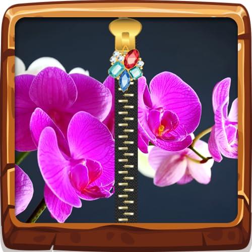 Schermo Blocco Chiusura lampo Orchidea