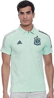 قميص بولو إسبانيا للرجال من أديداس، أخضر (أخضر غامق)