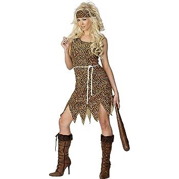 SmiffyS 22452S Disfraz De Mujer Cavernícola, Velvetón Con Vestido ...