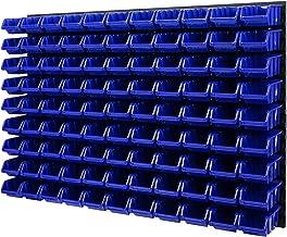 Wandrek stapelboxen - gatenwand 1152 x 780 mm - 99 stuks. Bokken opslagsysteem gereedschapswand Schuderek (blauw)
