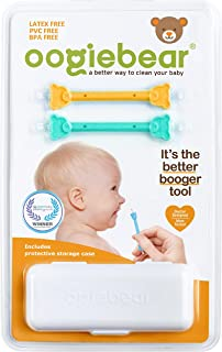oogiebear - Curved Scoop and Loop; The Safe Baby Nasal Booger and Ear Cleaner - Easy Baby Nose Cleaner Gadget for Infants ...
