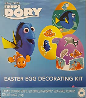 Disney Pixar Finding Dory Easter Egg Color Decorating Kit - Tablets Wraps Stands and Stickers