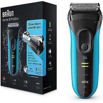 Braun Series 3 3040s-4 Rechargeable Wet and Dry Foil Elektrischer Rasierer, schwarz/blau