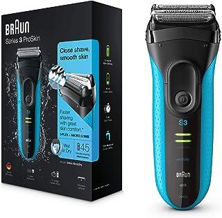Braun 博朗 Series 3 ProSkin 3040s 电动剃须刀 干湿两用剃须刀 带精确修剪刀 黑色/蓝色