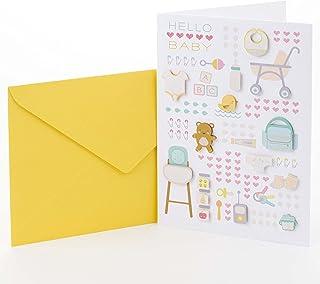 Hallmark Signature New Baby Congratulations Greeting Card, Baby Icons