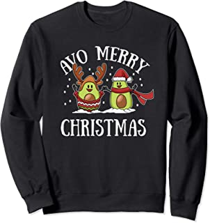 Christmas Avocado Sweatshirt Cute Vegan Vegetarian Xmas Gift