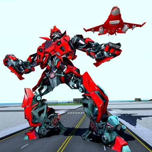 Luft-Roboter-Spiel - fliegende Roboter-umwandelnde Fläche