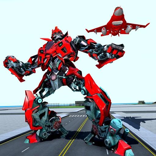 Jeu de robot d'air - Avion de transformation de robot volant