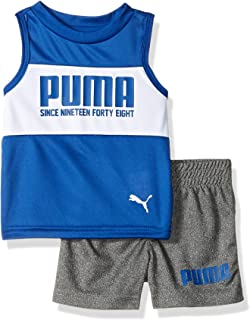 PUMA Baby-Boys Boys' T-Shirt & Short Set Shorts Set