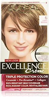 L'Oreal Excellence Creme, Light Brown [6] 1 Each (Pack of 6)