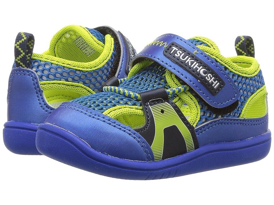 Tsukihoshi Kids Ibiza 2 (Toddler) (Royal/Lime) Boys Shoes