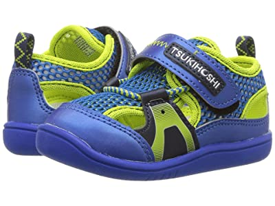 Tsukihoshi Kids Ibiza 2 (Toddler) (Royal/Lime) Boys Shoes