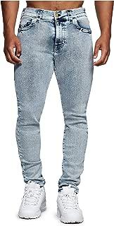 True Religion Men's X Manchester United Jack Slim Fit Stretch Jeans in Shore Break Acid Wash