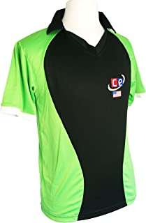 CE Colored Cricket Kit Shirts & Pants - Pakistan Colors Lime & Forest Green- Half Sleeves (Jersey - Shirt, Small)