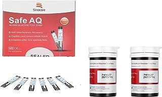 Sinocare Diabete Blood Glucose Test Strips x 50 Safe AQ Blood Suger Test Strips Codefree Test Strips, for Safe AQ Smart/Vo...