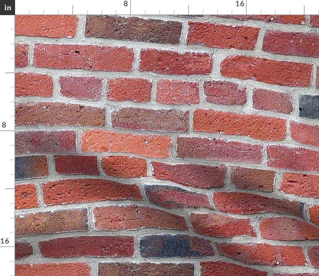 Spoonflower Max 72% OFF Fabric - Old Brick Rust Industrial Color Vintage Pri Ranking TOP8