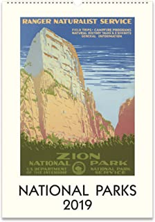 Cavallini Papers & Co. 2019 National Parks Wall Calendar, Multicolor
