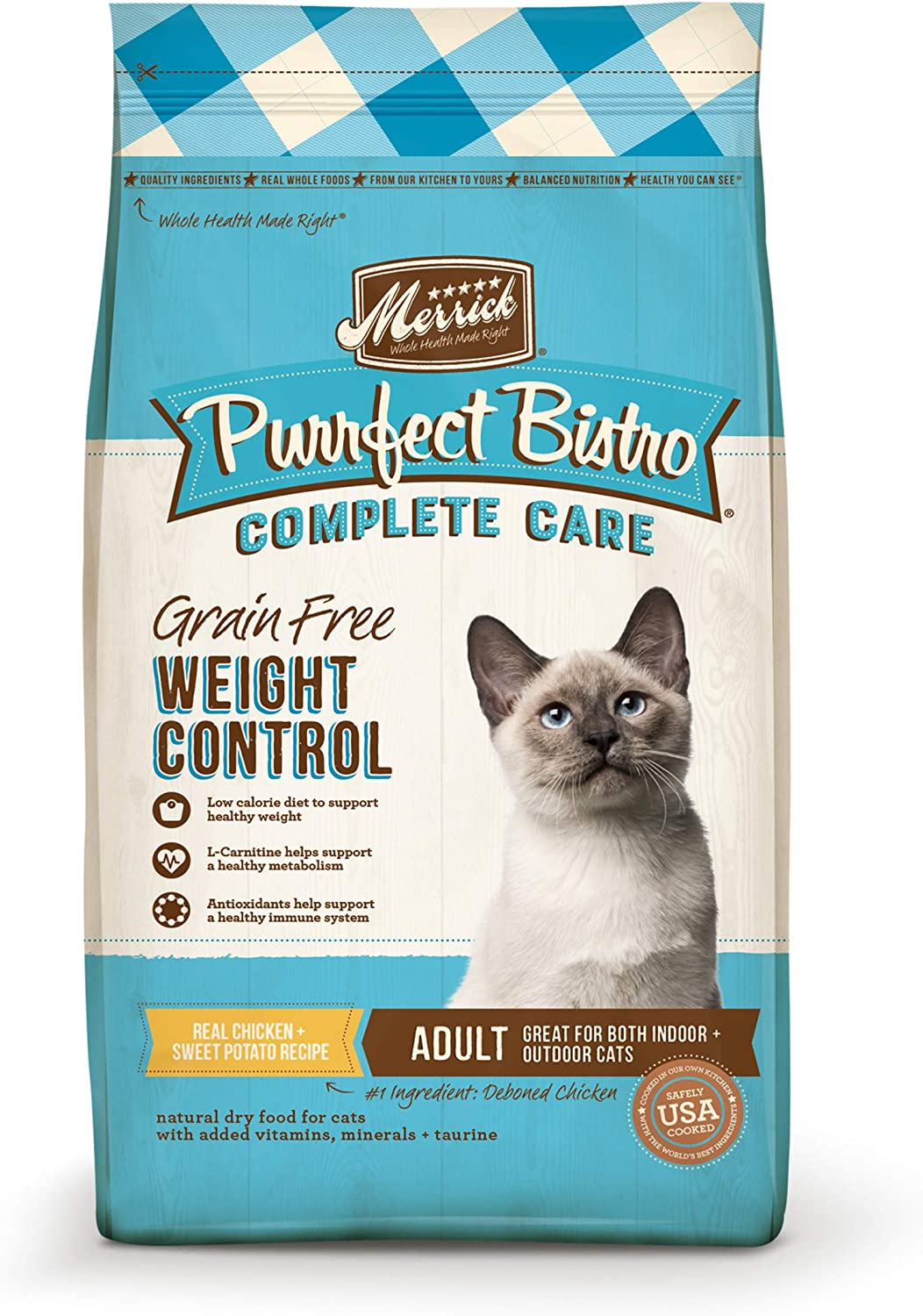 Merrick Purrfect Bistro Grain Free Cat Complete Food Mail order cheap Max 44% OFF Dry Care