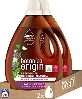 Botanical Origin Detergente para lavadora ecológico apto para pieles sensibles, Fragancia Jazmín Fresco y Lavanda Silvestr...