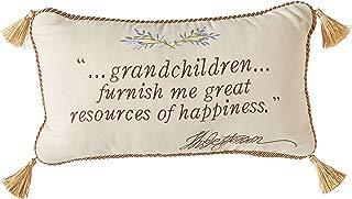 Peking Handicraft Grandchildren Quote Throw Pillow
