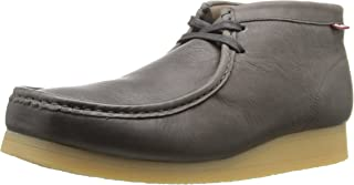 Men's Stinson Hi Wallabee Boot, Grey Leather