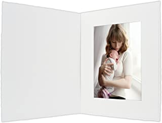 Golden State Art, Acid-Free Photo Folders for 4x6 Picture,Pack of 50 White Cardboard/Paper Frames,Great for Portraits and Photos,Special Events: Graduation,Wedding,Baby Shower,PF054